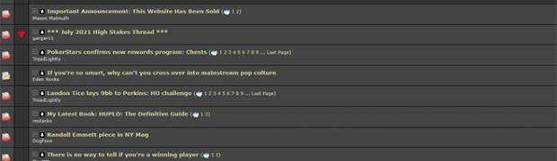 Two Plus Two Forum für jedes eine ungenannte Summe verkauft