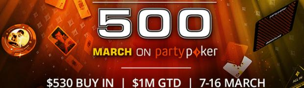 Die $1M GTD WPT500 läuft gen partypoker